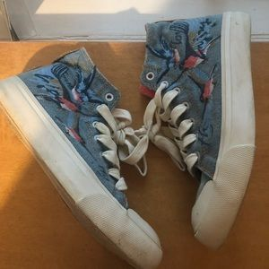 Zara embroidered sneakers
